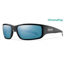 Prospect Matte Black ChromaPop Polarized Blue Mirror by Smith Optics