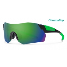 PivLock Arena Max Matte Black Reactor ChromaPop Sun Green Mirror by Smith Optics