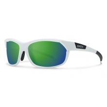 PivLock Overdrive Matte White Green Sol-X Mirror by Smith Optics