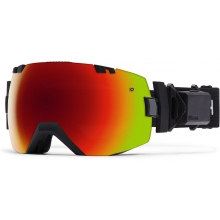 I/OX Turbo Fan Black Red Sol-X Mirror by Smith Optics