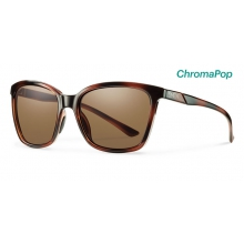 Colette Tortoise ChromaPop Polarized Brown by Smith Optics in Chino Ca