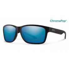 Drake Matte Black ChromaPop+  Polarized Blue Mirror by Smith Optics in Edwards Co
