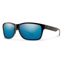 Drake Black Techlite Polarized Blue Mirror by Smith Optics