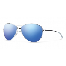Langley Silver Blue Flash Mirror by Smith Optics