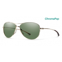 Langley Gold ChromaPop Polarized Gray Green by Smith Optics