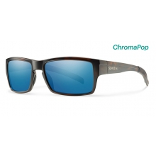 Outlier Matte Tortoise ChromaPop Polarized Blue Mirror by Smith Optics