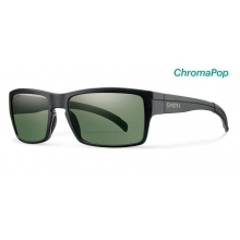Outlier Matte Black ChromaPop Polarized Gray Green by Smith Optics