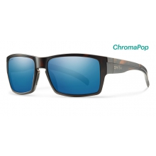 Outlier XL Matte Tortoise ChromaPop Polarized Blue Mirror