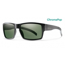 Outlier XL Matte Black ChromaPop Polarized Gray Green by Smith Optics