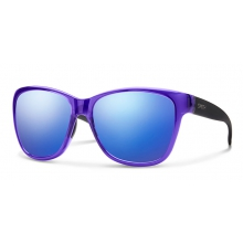 Ramona Crystal Ultraviolet - Matte Black Blue Flash Mirror by Smith Optics