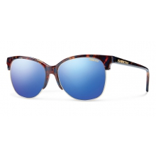 Rebel Flecked Blue Tortoise Blue Flash Mirror by Smith Optics