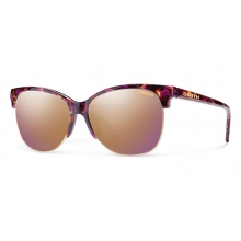 Rebel Flecked Mulberry Tortoise Rose Gold Mirror by Smith Optics