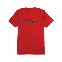 Scripty Men's Tee Red Extra Large by Smith Optics