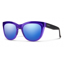 Sidney Crystal Ultraviolet - Matte Black Blue Flash Mirror by Smith Optics in Edwards Co