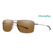 Turner Matte Brown ChromaPop Polarized Brown by Smith Optics
