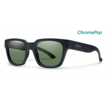 Comstock Matte Black ChromaPop Polarized Gray Green by Smith Optics