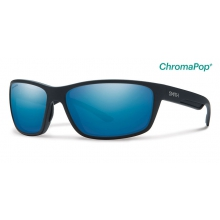 Redmond Matte Black ChromaPop+  Polarized Blue Mirror by Smith Optics in Austin Tx