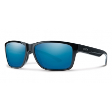Wolcott Black Techlite Polarized Blue Mirror by Smith Optics