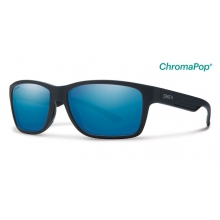 Wolcott Matte Black ChromaPop+  Polarized Blue Mirror by Smith Optics in Ponderay Id