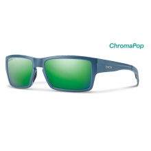 Outlier Matte Corsair Ripped ChromaPop Sun Green Mirror by Smith Optics