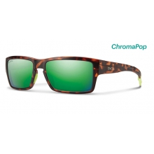Outlier Matte Tortoise Neon ChromaPop Sun Green Mirror by Smith Optics in Baton Rouge La