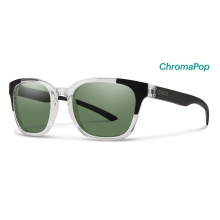 Founder Slim Crystal Black Block ChromaPop Polarized Gray Green by Smith Optics