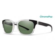 Founder Slim Crystal Black Block ChromaPop Polarized Gray Green by Smith Optics in Fresno Ca