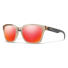 Founder Slim Desert Crystal Smoke ChromaPop Sun Red Mirror by Smith Optics