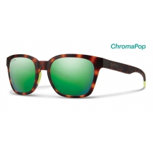 Founder Slim Matte Tortoise Neon ChromaPop Sun Green Mirror by Smith Optics