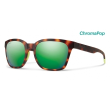 Founder Matte Tortoise Neon ChromaPop Sun Green Mirror by Smith Optics