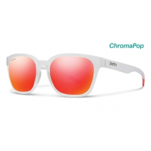 Founder Slim Matte Crystal Red ChromaPop Sun Red Mirror by Smith Optics