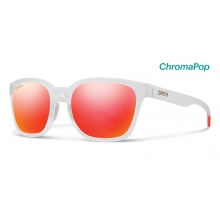 Founder Matte Crystal Red ChromaPop Sun Red Mirror by Smith Optics