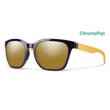 Founder Midnight Matte Honey ChromaPop Polarized Bronze Mirror by Smith Optics