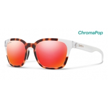 Founder Slim Matte Tortoise Crystal Block ChromaPop Sun Red Mirror by Smith Optics