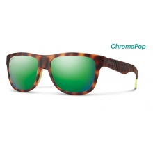 Lowdown Slim Matte Tortoise Neon ChromaPop Sun Green Mirror by Smith Optics