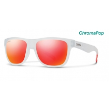 Lowdown Slim Matte Crystal Red ChromaPop Sun Red Mirror by Smith Optics