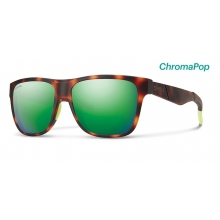 Lowdown Matte Tortoise Neon ChromaPop Sun Green Mirror by Smith Optics