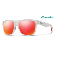 Lowdown Matte Crystal Red ChromaPop Sun Red Mirror by Smith Optics