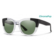 Sidney Crystal Black Block ChromaPop Polarized Gray Green by Smith Optics
