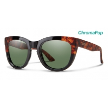 Sidney Black Havana Block ChromaPop Polarized Gray Green by Smith Optics