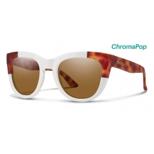 Sidney White Honey Tortoise Block ChromaPop Polarized Brown by Smith Optics