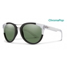 Bridgetown Matte Black Crystal Block ChromaPop Polarized Gray Green