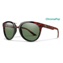 Bridgetown Black Havana Block ChromaPop Polarized Gray Green by Smith Optics in Park City Ut