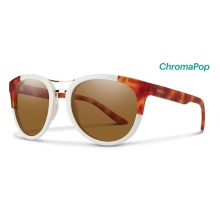 Bridgetown White Honey Tortoise Block ChromaPop Polarized Brown by Smith Optics