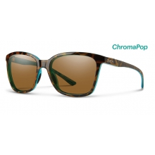 Colette Tortoise Marine ChromaPop Polarized Brown by Smith Optics in Chino Ca
