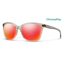 Colette Desert Crystal Smoke ChromaPop Sun Red Mirror by Smith Optics