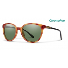 Cheetah Matte Honey Tortoise/Black ChromaPop Polarized Gray Green by Smith Optics