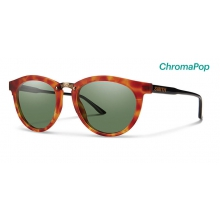 Questa Matte Honey Tortoise/Black ChromaPop Polarized Gray Green by Smith Optics