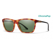 Delano Matte Honey Tortoise/Black ChromaPop Polarized Gray Green by Smith Optics