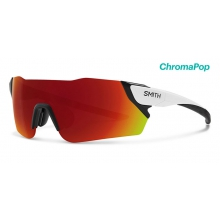 Attack Matte White ChromaPop Sun Red Mirror by Smith Optics in Chino Ca